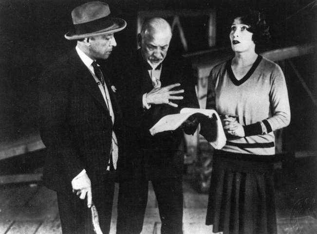 Pirandello dirige Marta Abba e Lamberto Picasso ne La nuova colonia, 1928.