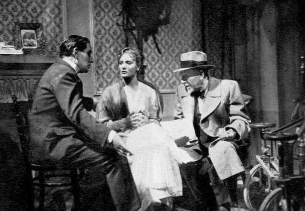 Pirandello sul set de Il fu Mattia Pascal con Pierre Blanchar e Isa Miranda