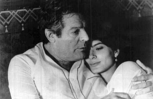 Marcello Mastroianni e Laura Morante - Le due vite di Mattia Pascal di Mario Monicelli - 1985