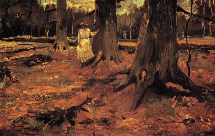 Vincent van Gogh, Ragazza in un bosco, 1882