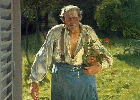 Émile Claus (1849-1924), Il vecchio giardiniere, 1885