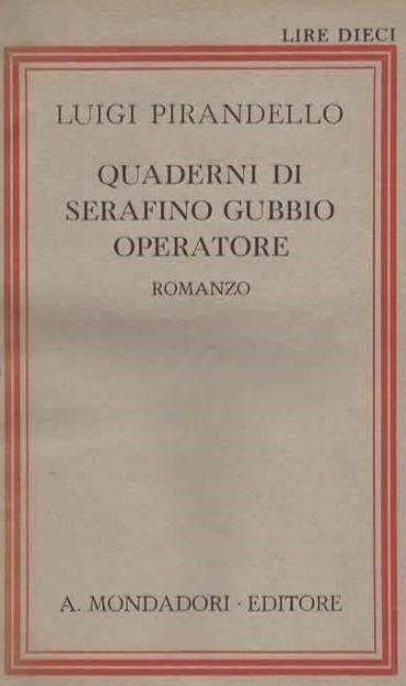 Quaderni di Serafino Gubbio - Quaderno sesto