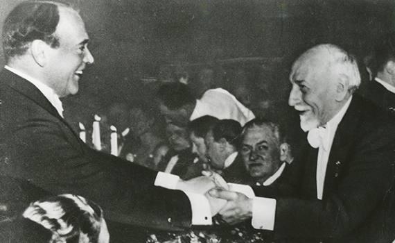 1934 – Dichiarazione al banchetto per il conferimento del premio Nobel