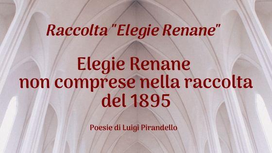 Elegie Renane non comprese nella raccolta del 1895
