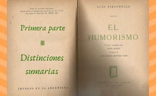 El Humorismo - Primera parte - III