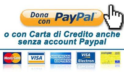 Fai una donazione con il pulsante PayPal