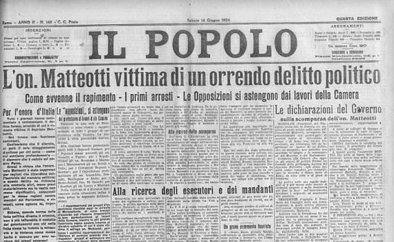 Pirandello il fascismo e l'affare Matteotti